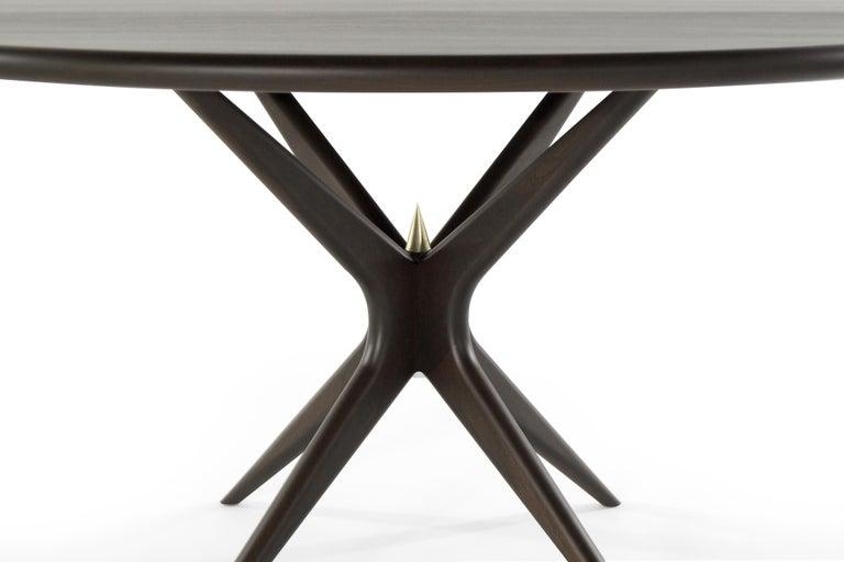 Stamford Modern's Gazelle Dining Table in Espresso Walnut For Sale 1