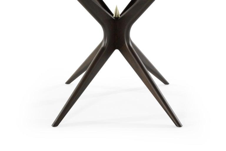 Stamford Modern's Gazelle Dining Table in Espresso Walnut For Sale 2