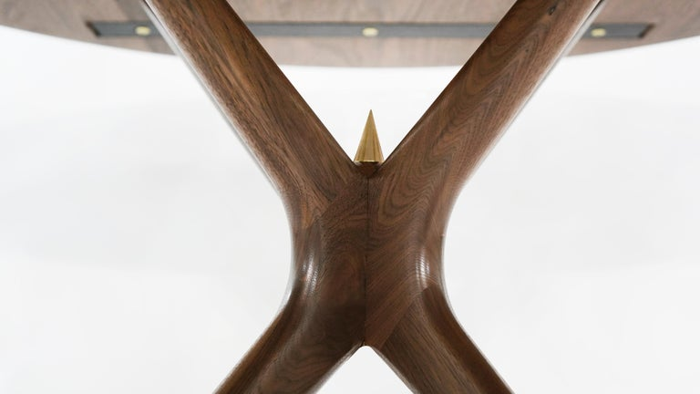 Stamford Modern's Gazelle Dining Table in Walnut For Sale 2