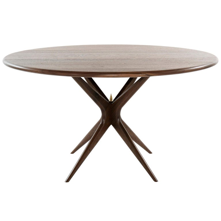 Stamford Modern's Gazelle Dining Table in Walnut For Sale