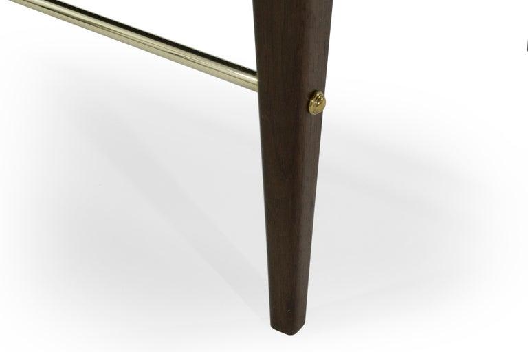 Stamford Modern's Linear Bench in Grey Velvet For Sale 4