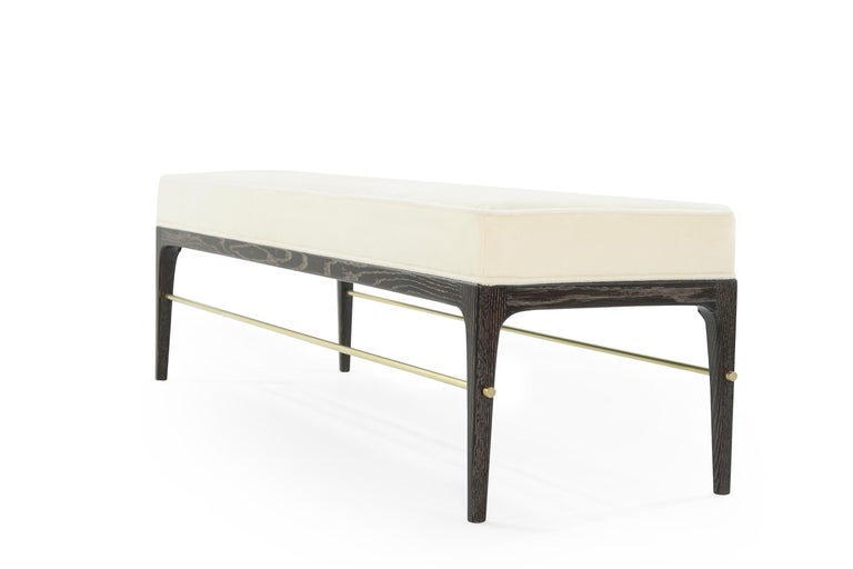 Contemporary Stamford Modern's Linear Bench in Limed Oak For Sale