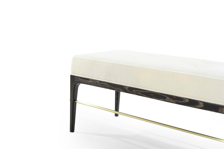 Stamford Modern's Linear Bench in Limed Oak For Sale 1