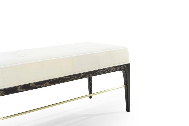 Stamford Modern's Linear Bench in Limed Oak For Sale 2