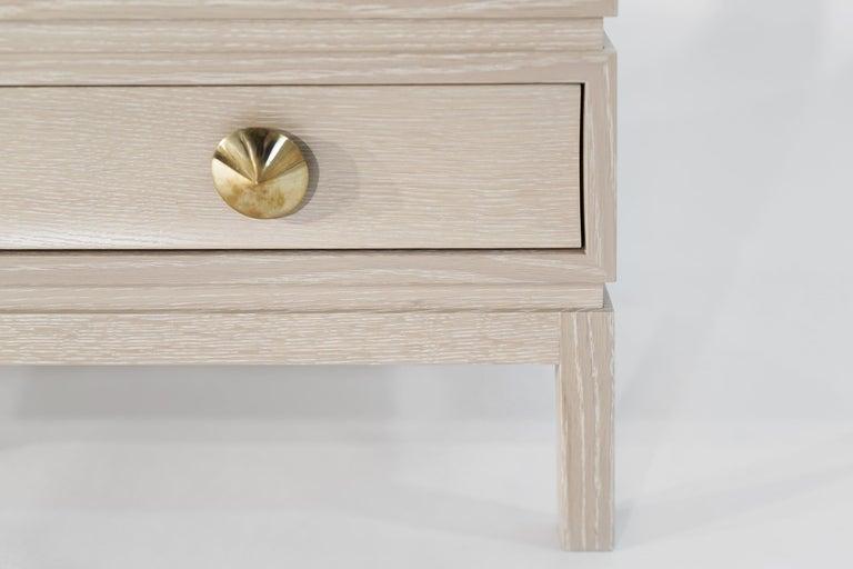 Stamford Modern's Stacked Bedside Tables in Cerused Oak For Sale 3