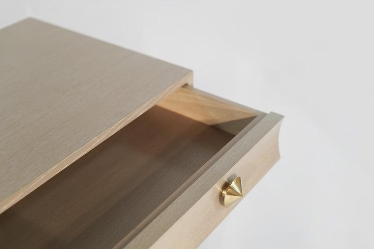 Stamford Modern's Stacked Bedside Tables in Cerused Oak For Sale 5