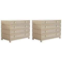 Stamford Modern's Stacked Commodes in Cerused Oak