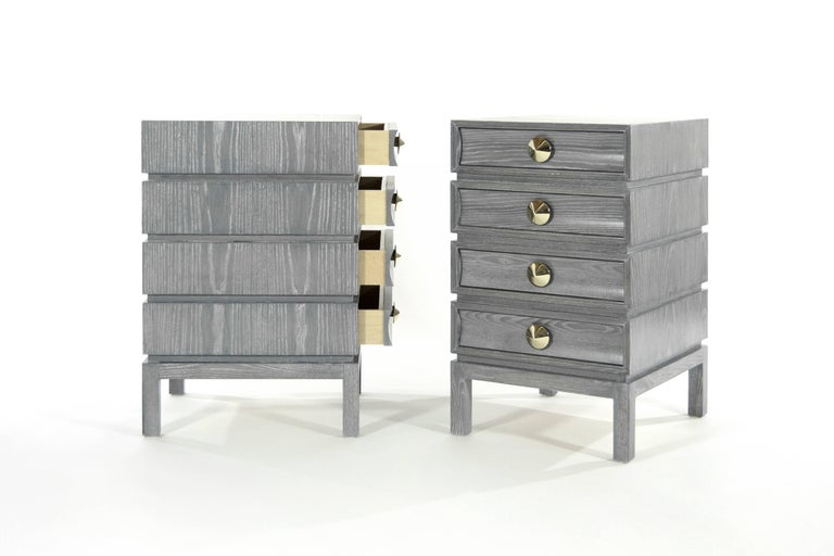 Stamford Modern's Stacked End Tables in Limed Oak In New Condition For Sale In Stamford, CT