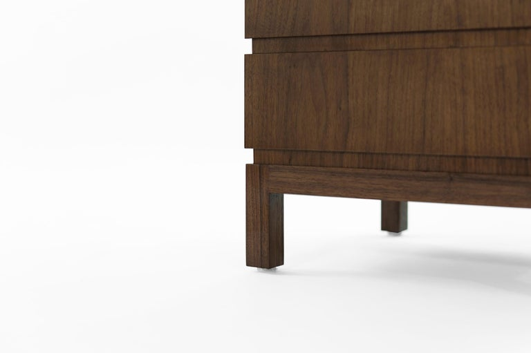 Stamford Modern's Stacked End Tables in Walnut For Sale 3