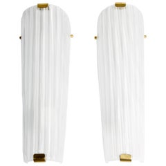 Stampato Fluted Murano Glass Sconces