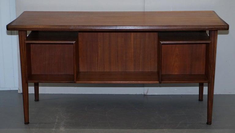 Stamped 1961 Danish Teak Peter Lovig Nielsen for Hedensted Mobelfabrik Desk For Sale 4