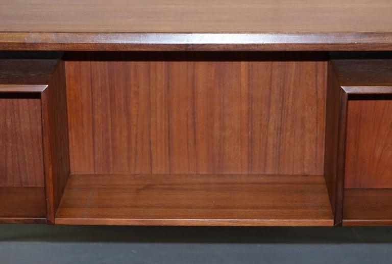 Stamped 1961 Danish Teak Peter Lovig Nielsen for Hedensted Mobelfabrik Desk For Sale 7
