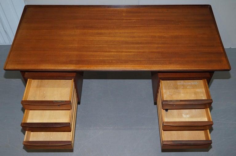 Stamped 1961 Danish Teak Peter Lovig Nielsen for Hedensted Mobelfabrik Desk For Sale 10