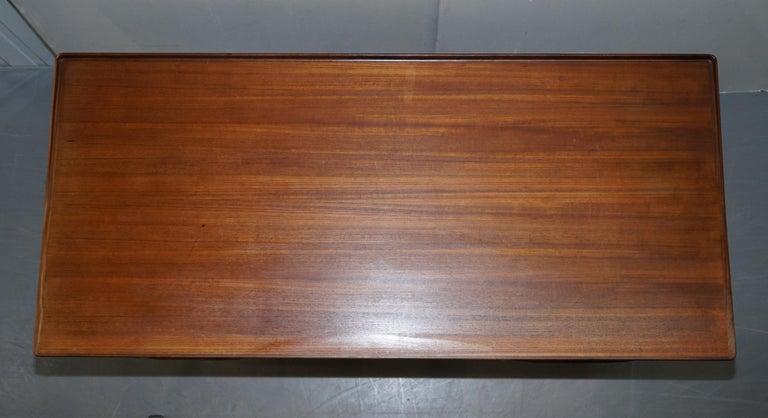 Stamped 1961 Danish Teak Peter Lovig Nielsen for Hedensted Mobelfabrik Desk In Good Condition For Sale In , Pulborough