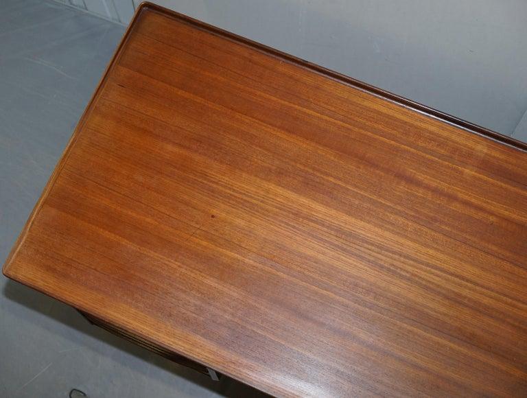 Mid-20th Century Stamped 1961 Danish Teak Peter Lovig Nielsen for Hedensted Mobelfabrik Desk For Sale