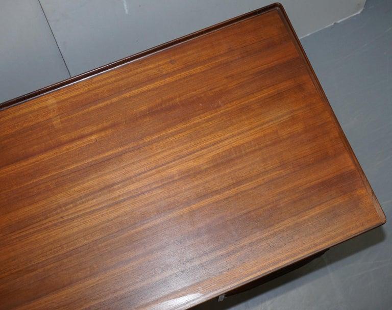 Stamped 1961 Danish Teak Peter Lovig Nielsen for Hedensted Mobelfabrik Desk For Sale 1