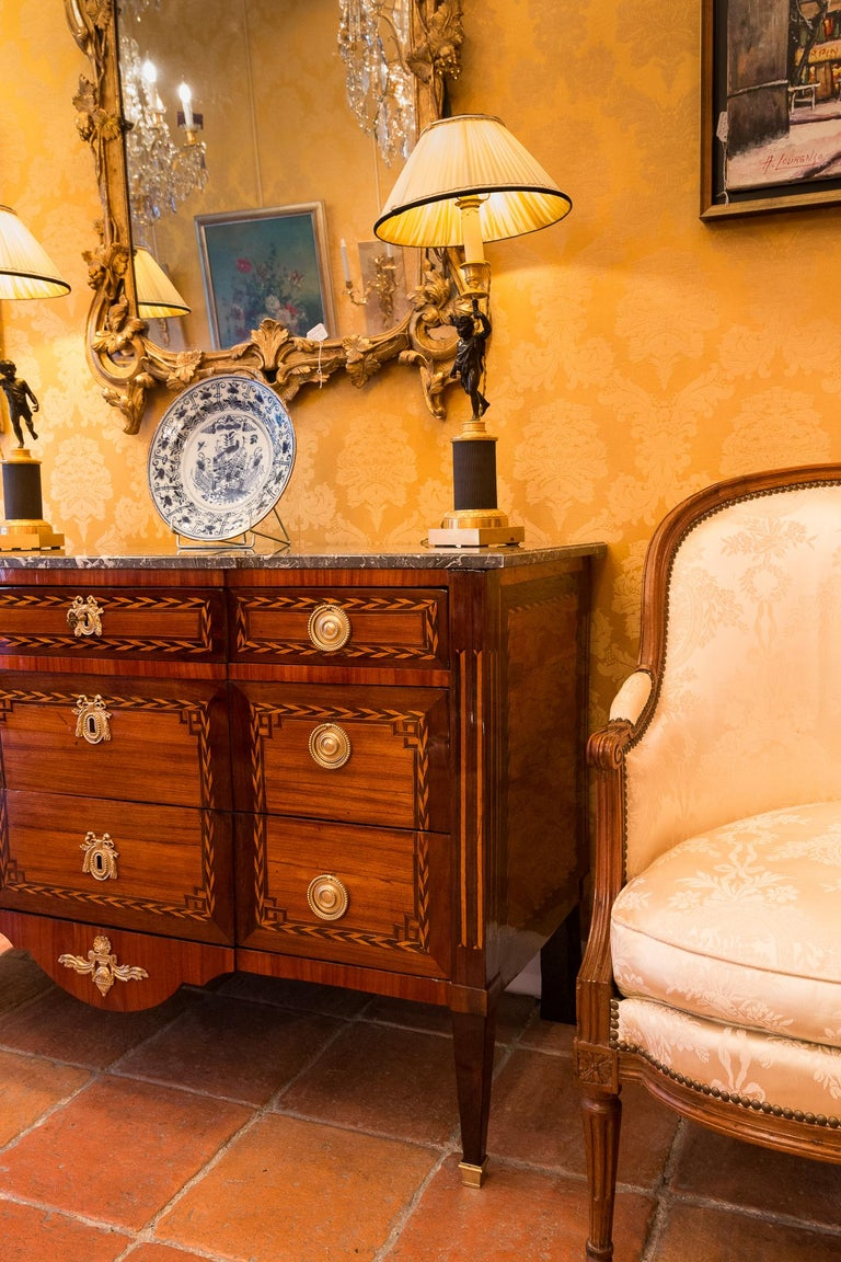 Stamped by Jean Caumont French Louis XVI Period Commode, circa 1775-1780 For Sale 5