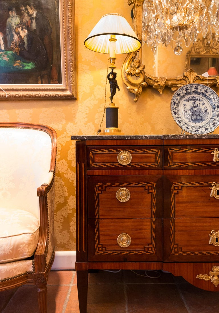 18th Century Stamped by Jean Caumont French Louis XVI Period Commode, circa 1775-1780 For Sale