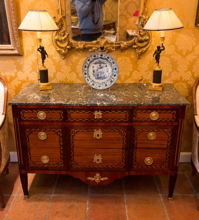 Stamped by Jean Caumont French Louis XVI Period Commode, circa 1775-1780 For Sale 3
