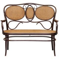 Stamped circa 1890 J&J Jacob & Josef Kohn Bentwood Berger Bench Part Large Suite