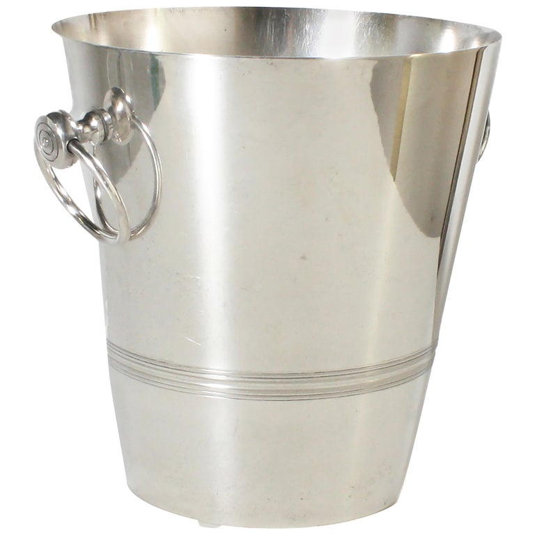 Stamped Silver Plated Ice Bucket, circa 1960 For Sale