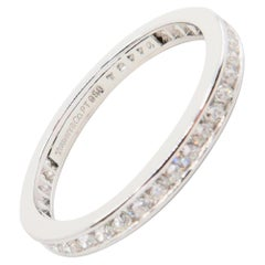 Stamped Tiffany & Co Platinum and Diamond Eternity Wedding Band. Classic