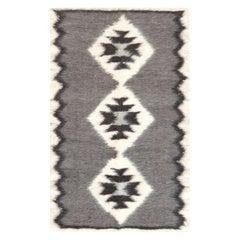 Stamverband II Geometric Gray and White Carpet