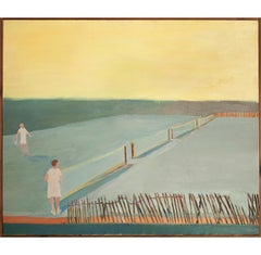 On the Tennis Court 11 , country club tennis Reminiscent of Fairfield Porter