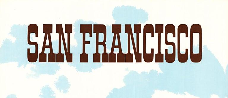 San Francisco United Air Lines original vintage travel poster - Modern Print by Stan Galli