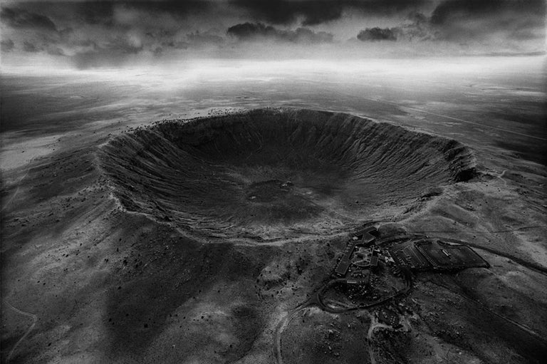 Stan Gaz Landscape Photograph - Origin 5 (Meteor Crater), Arizona, United States