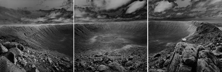 Stan Gaz Black and White Photograph - Origin 6, 7, 8 (Meteor Crater), Arizona, United States