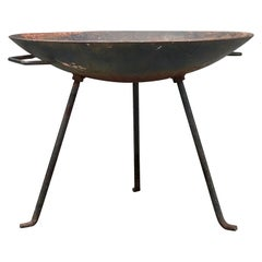 Stan Hawk Iron Fire Pit or Catch-All, 1950's