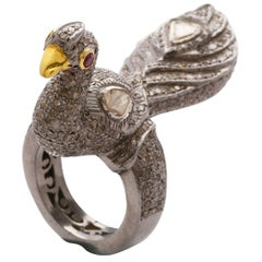 Stand Proud Diamond Peacock Ring