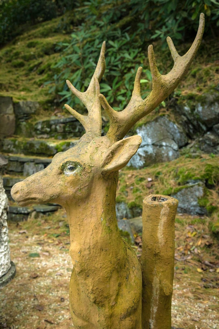Composed Stone Stag For Sale 5