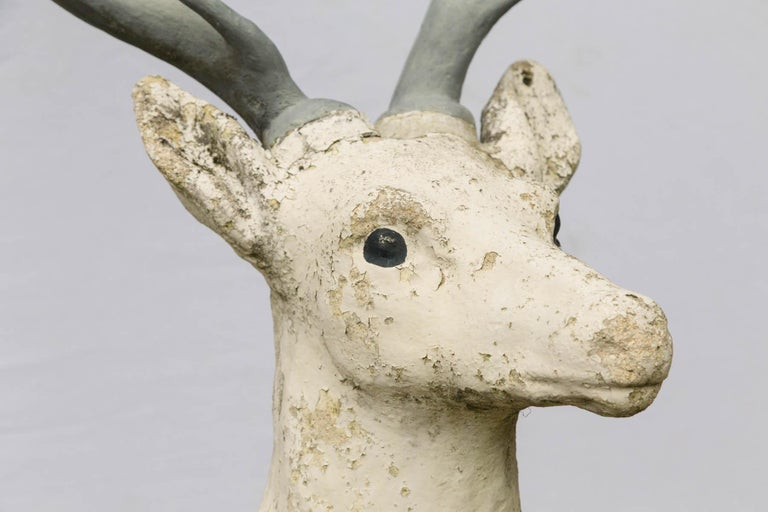Standing Cement Deer In Good Condition For Sale In Mt Kisco, NY