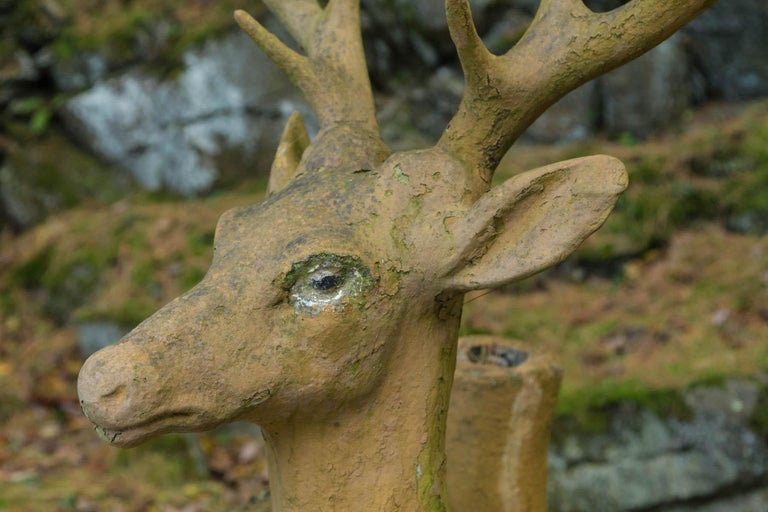19th Century Composed Stone Stag For Sale