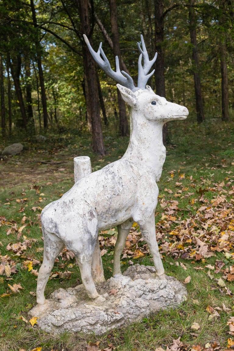 Standing Cement Deer For Sale 1