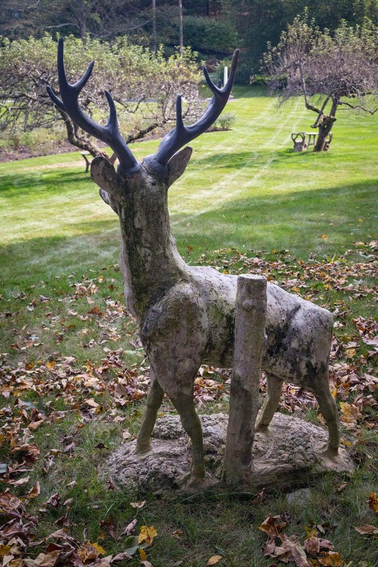 Standing Cement Deer For Sale 2