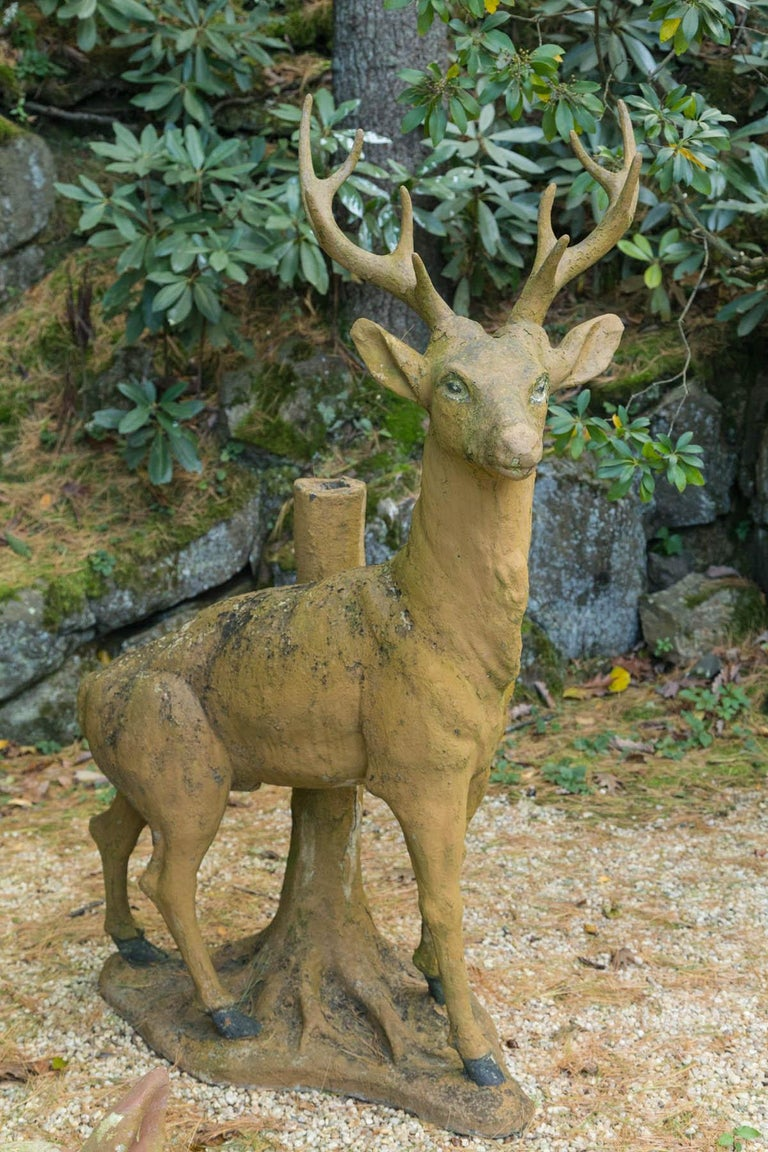 Composed Stone Stag For Sale 2