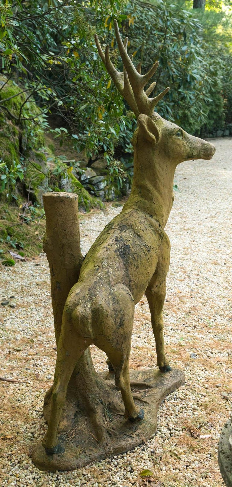 Composed Stone Stag For Sale 3