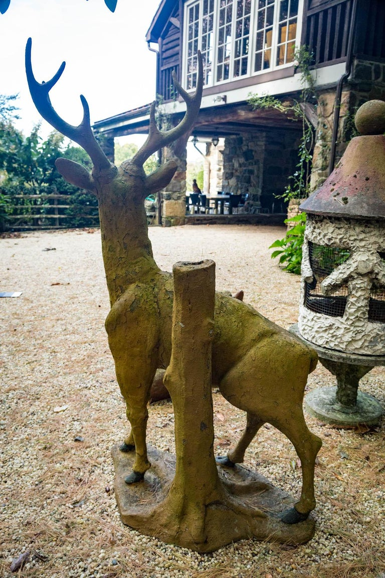 Composed Stone Stag For Sale 4