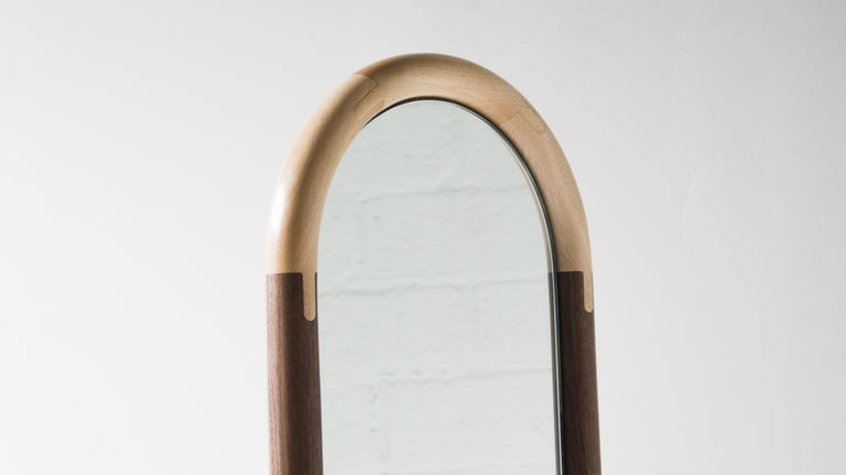Joinery Standing Halo Mirror by Birnam Wood Studio For Sale