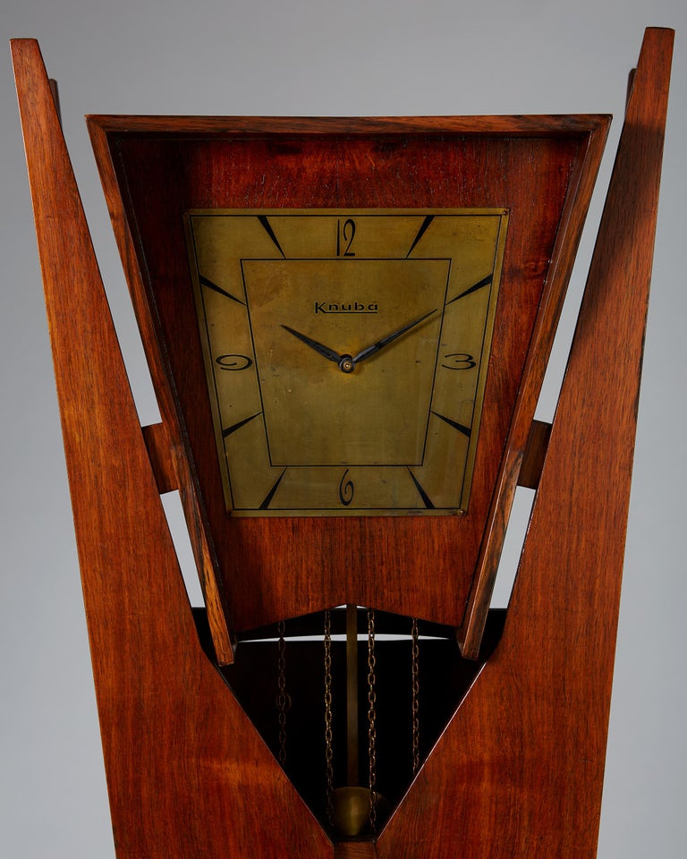 Swedish Standing Long-Case Clock, Anonymous, Denmark, 1950s For Sale