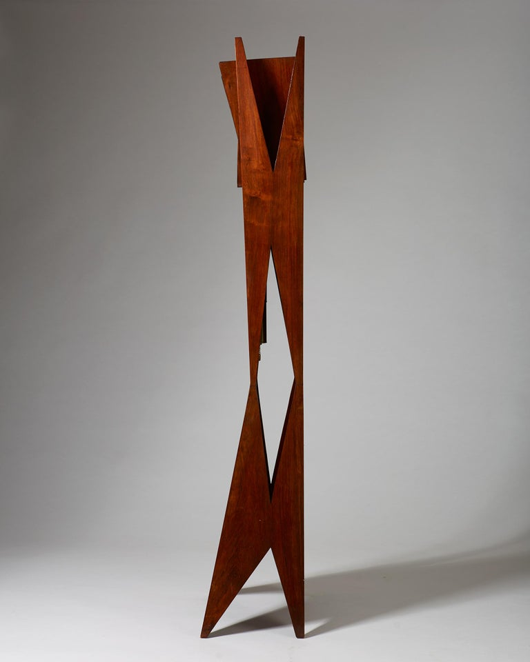Mid-20th Century Standing Long-Case Clock, Anonymous, Denmark, 1950s For Sale
