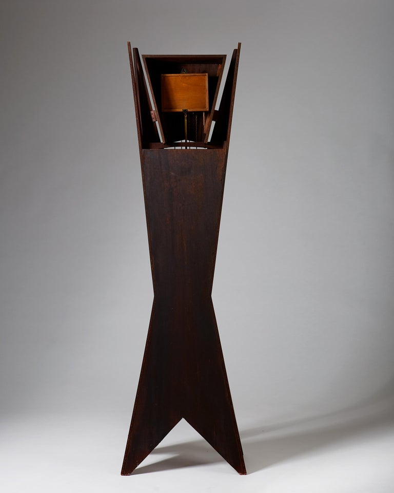 Rosewood Standing Long-Case Clock, Anonymous, Denmark, 1950s For Sale