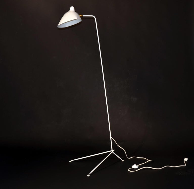 Contemporary Standing One-Arm Lamp by Serge Mouille For Sale