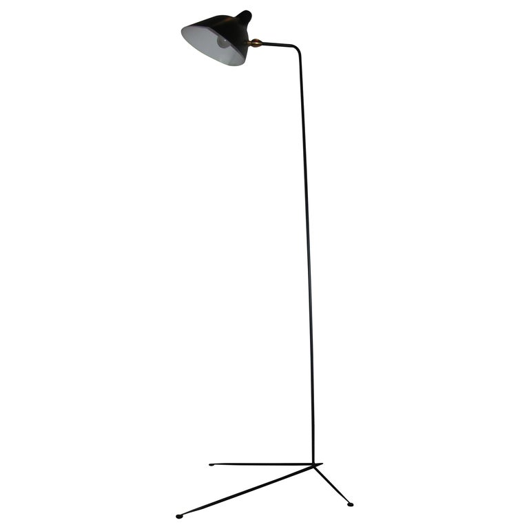 Standing One-Arm Lamp by Serge Mouille For Sale