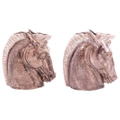 Stangl Art Deco Matched Pair of Horse Head Vases
