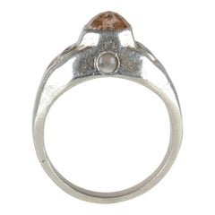 Stanhope Ring in Aluminum with Diamond