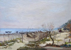 By the sea. 1980. Oil on canvas and cardboard, 39x55 cm